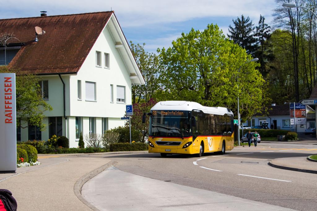 Volvo 7900H-Hybridbus erreicht Möhlin