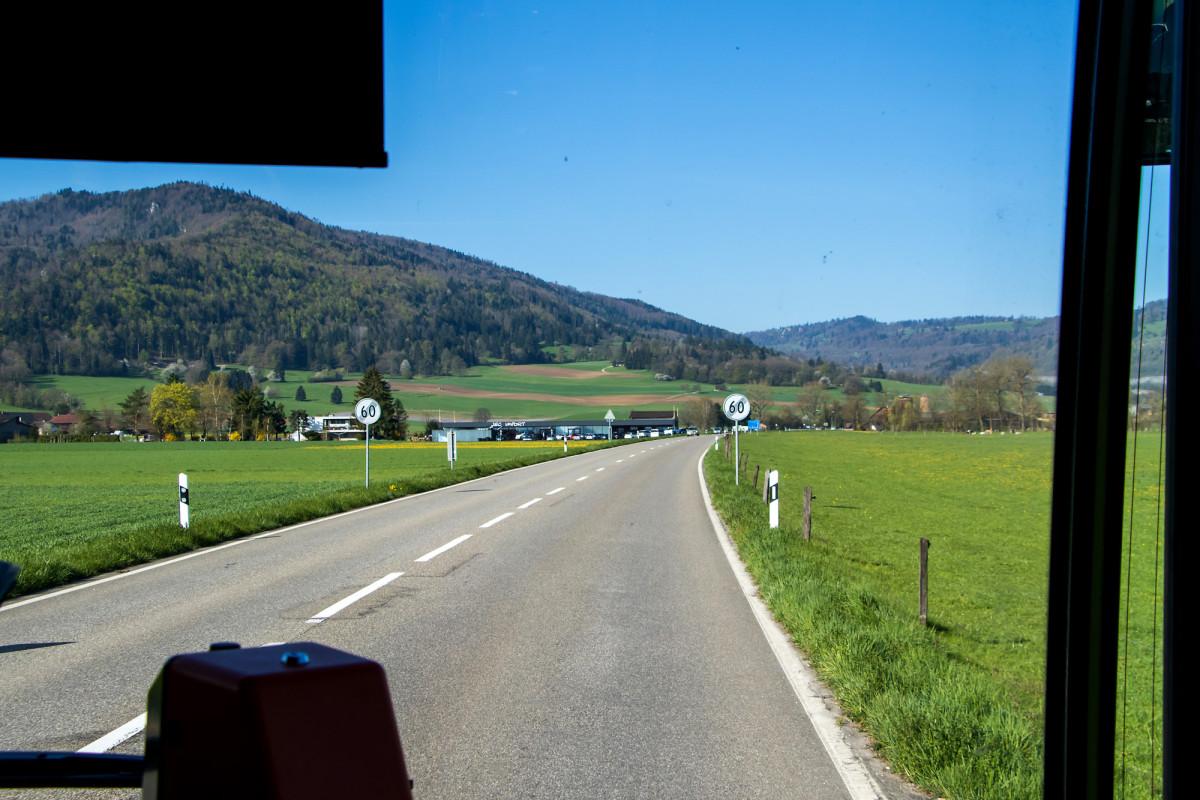 Auf der Fahrt nach Glovélier