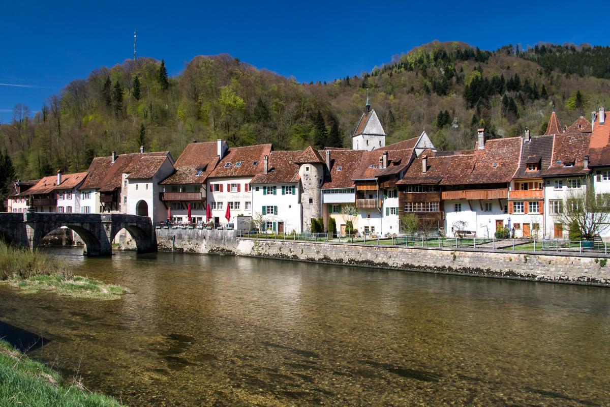 Postkarten-Ansicht von St. Ursanne