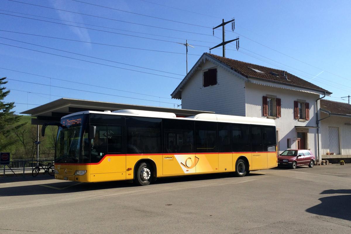 Mein etwas überdimensionierter Bus nach Glovélier