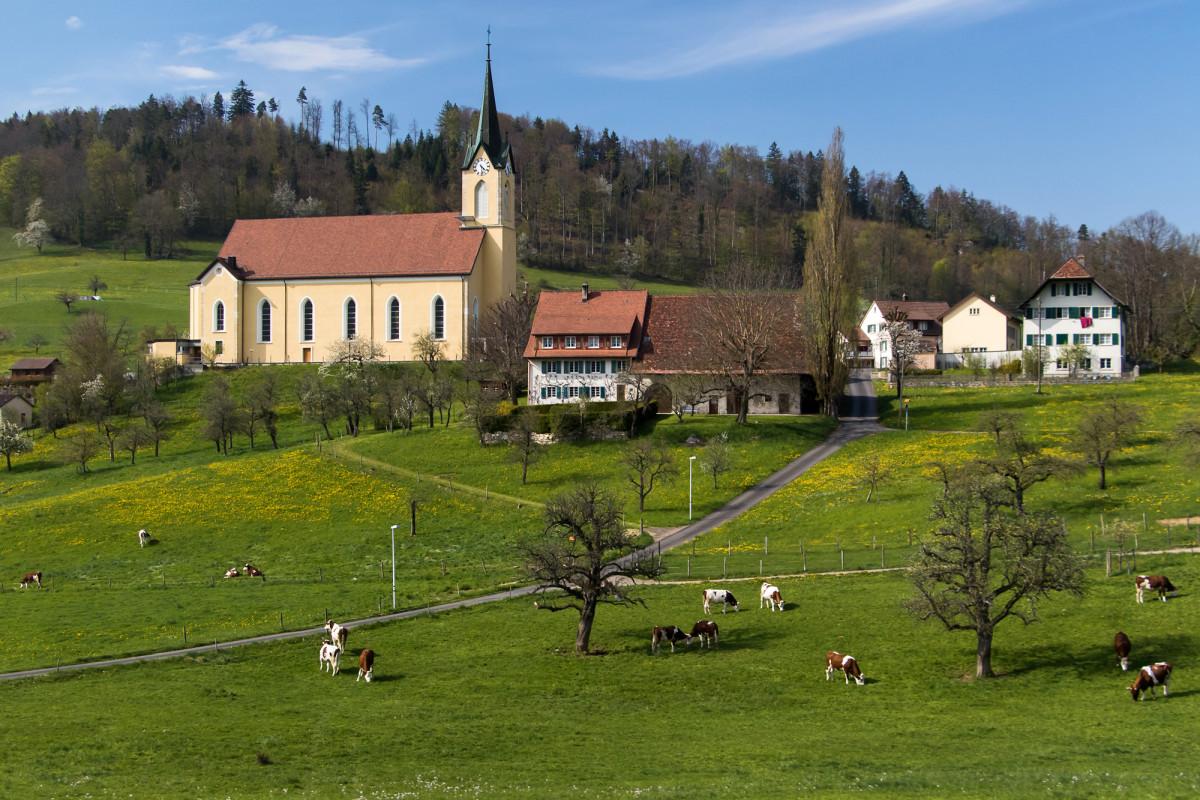 Die neugotische Kirche von Nunningen-Oberkirch