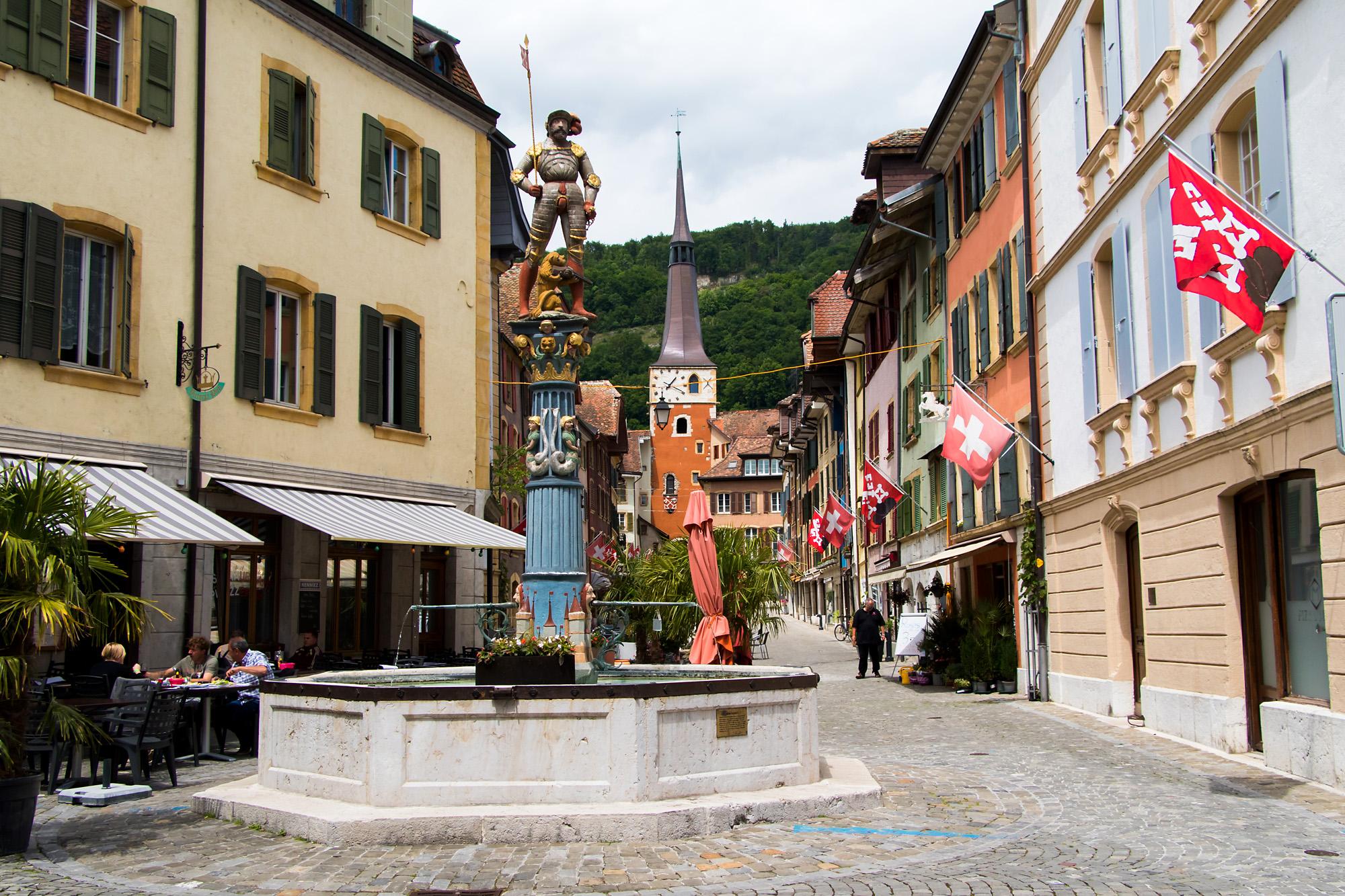 Die Altstadt von La Neuveville, BE