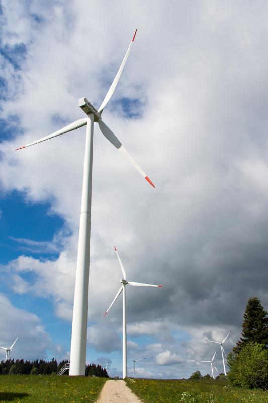 Der Windpark Mont Croisin