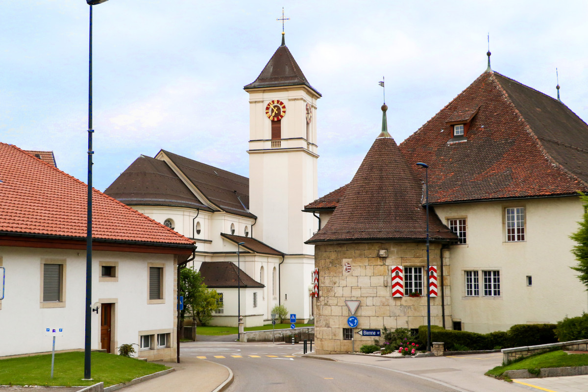 Der Archivturm von Saignelégier wurde 1765 erbaut, an der Stelle eines ehemaligen Gefängnisturms