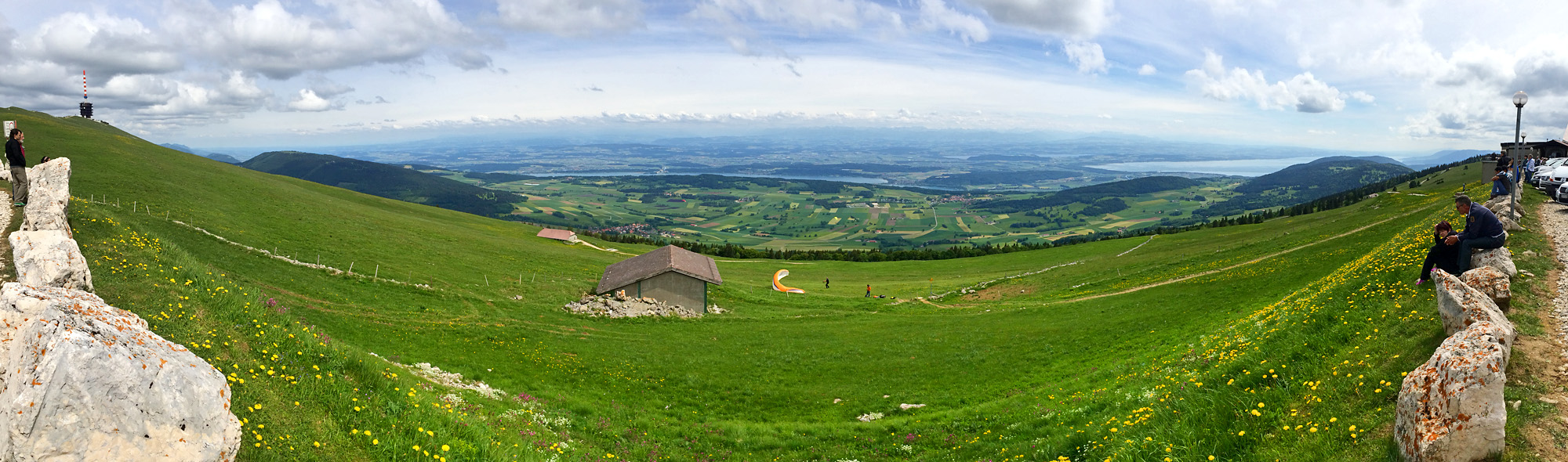 Panorama vom Chasseral-Gipfel