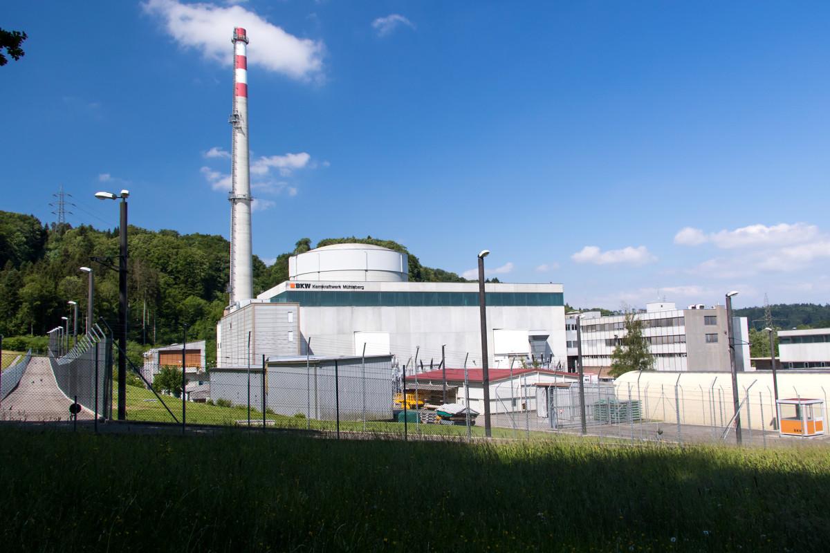 Das Kernkraftwerk Mühleberg, seit 1972 in Betrieb