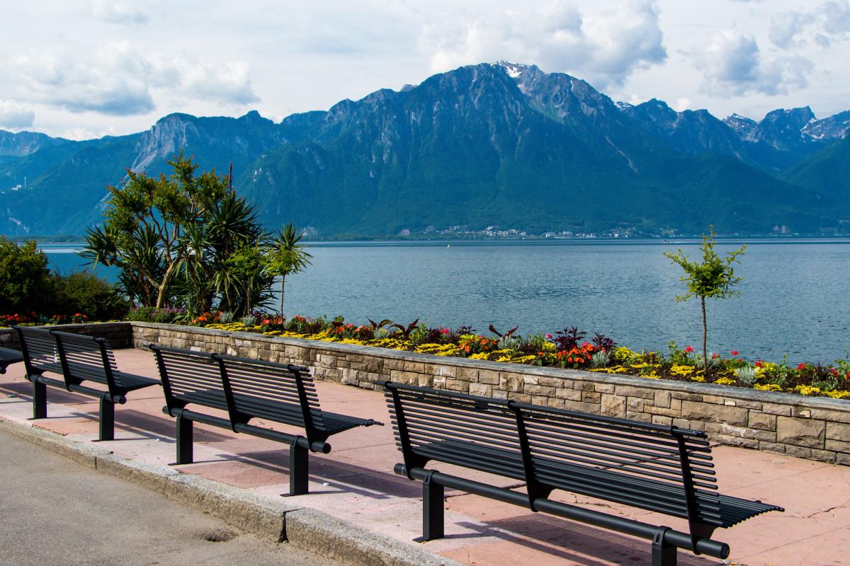 An Montreux' Promenade geniesst man wundervolle Aussichten