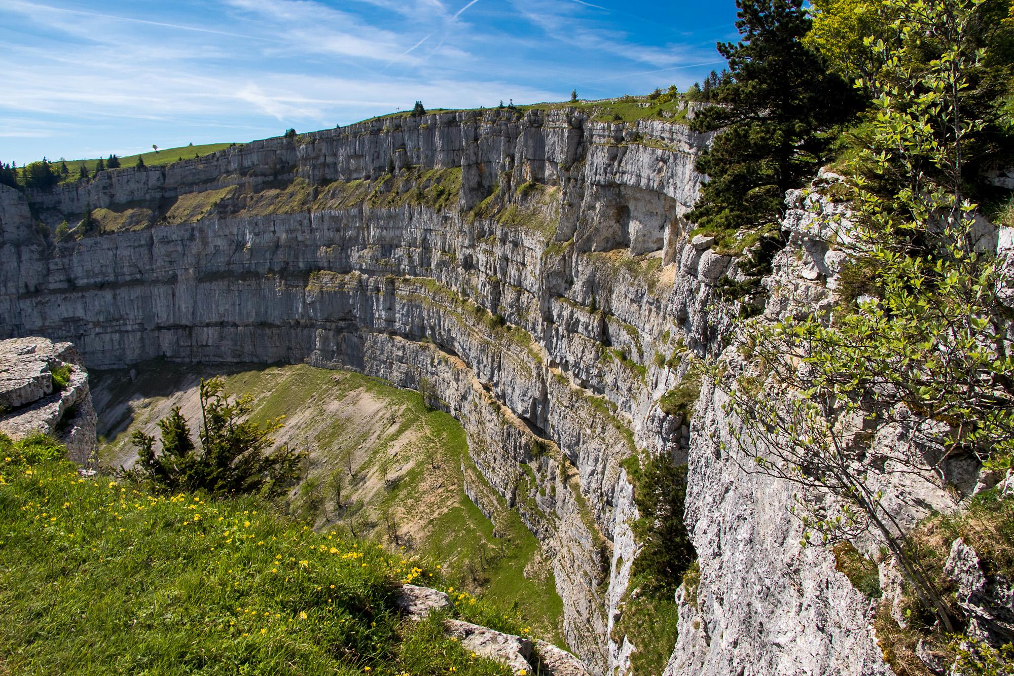 160 Meter Höhe messen die steilen Felswände