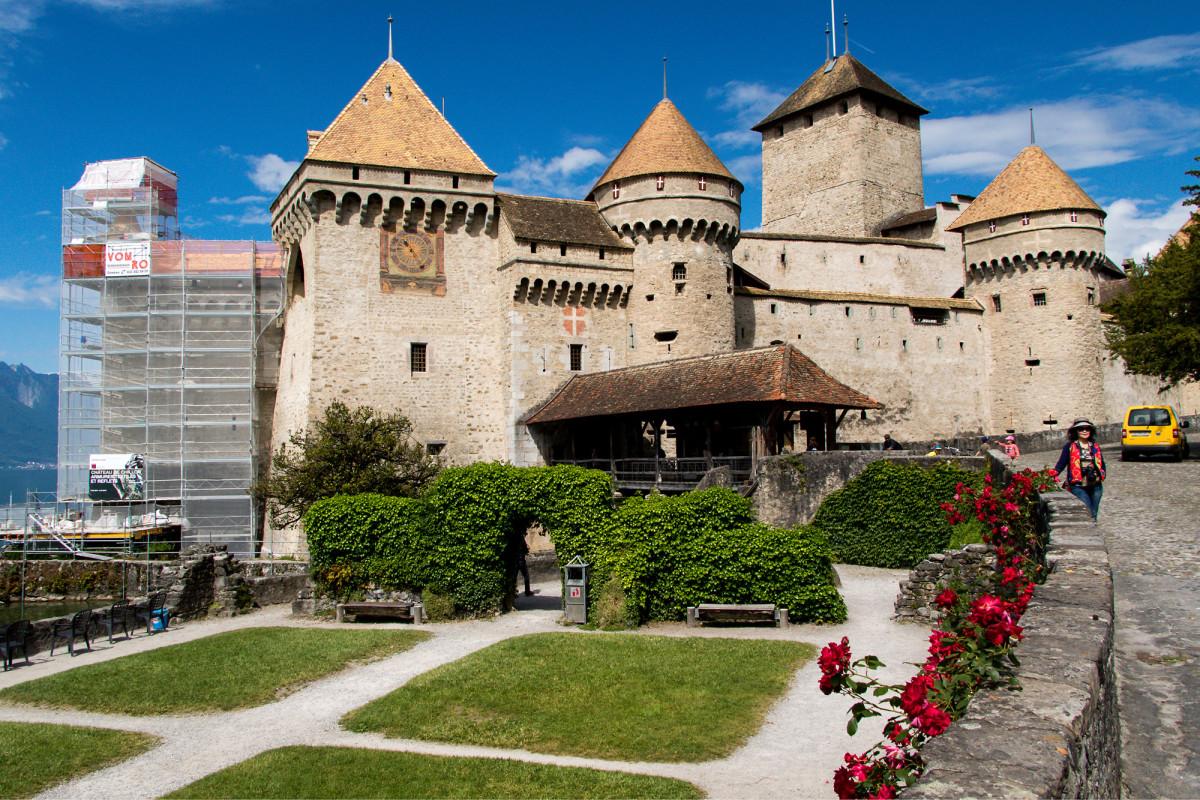 Schloss Chillon (VD) in seiner ganzen Pracht