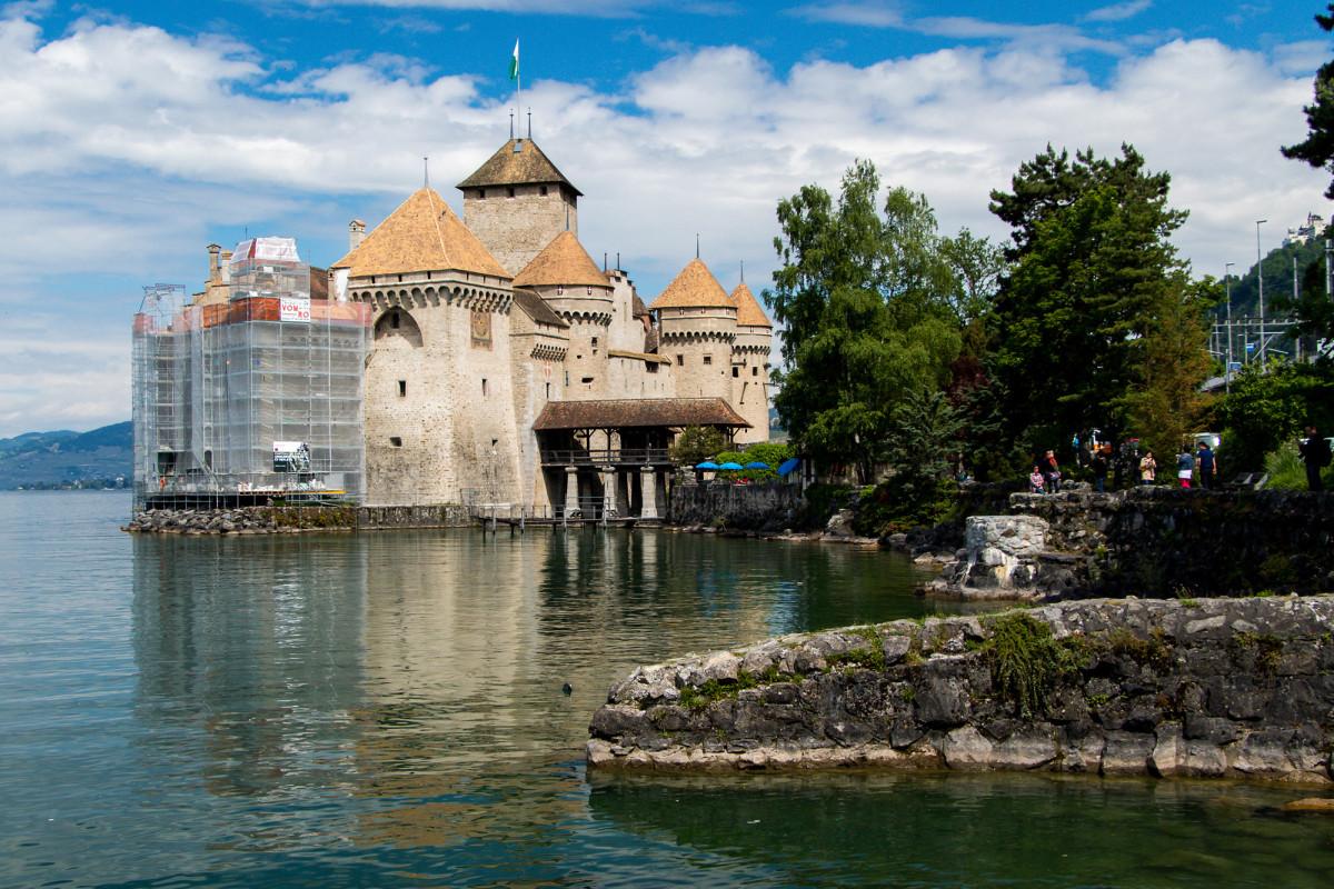 Ein Blick zurück auf Chillon