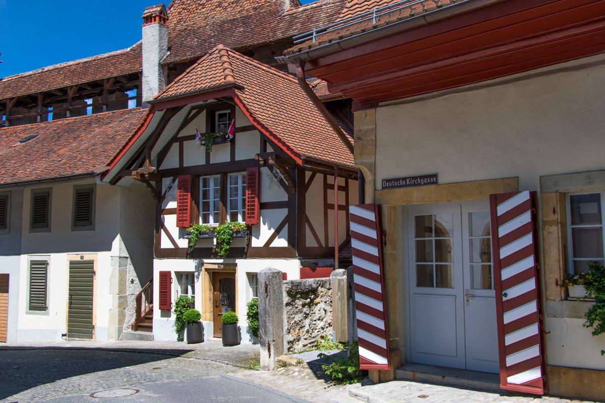 Das Wäbhüsli in Murten stammt aus dem Jahr 1675