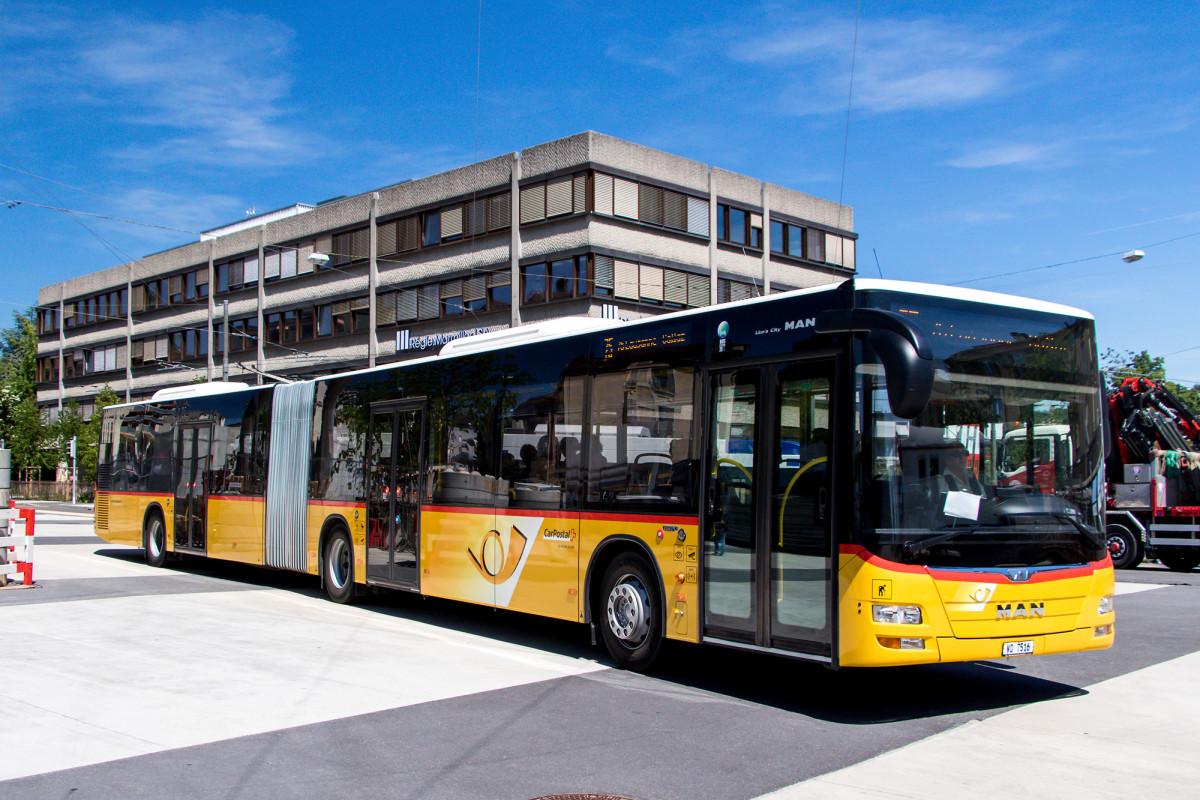 Der MAN Lion's City im Stadtgebiet von Lausanne - doch nun geht's damit wieder aufs Land!