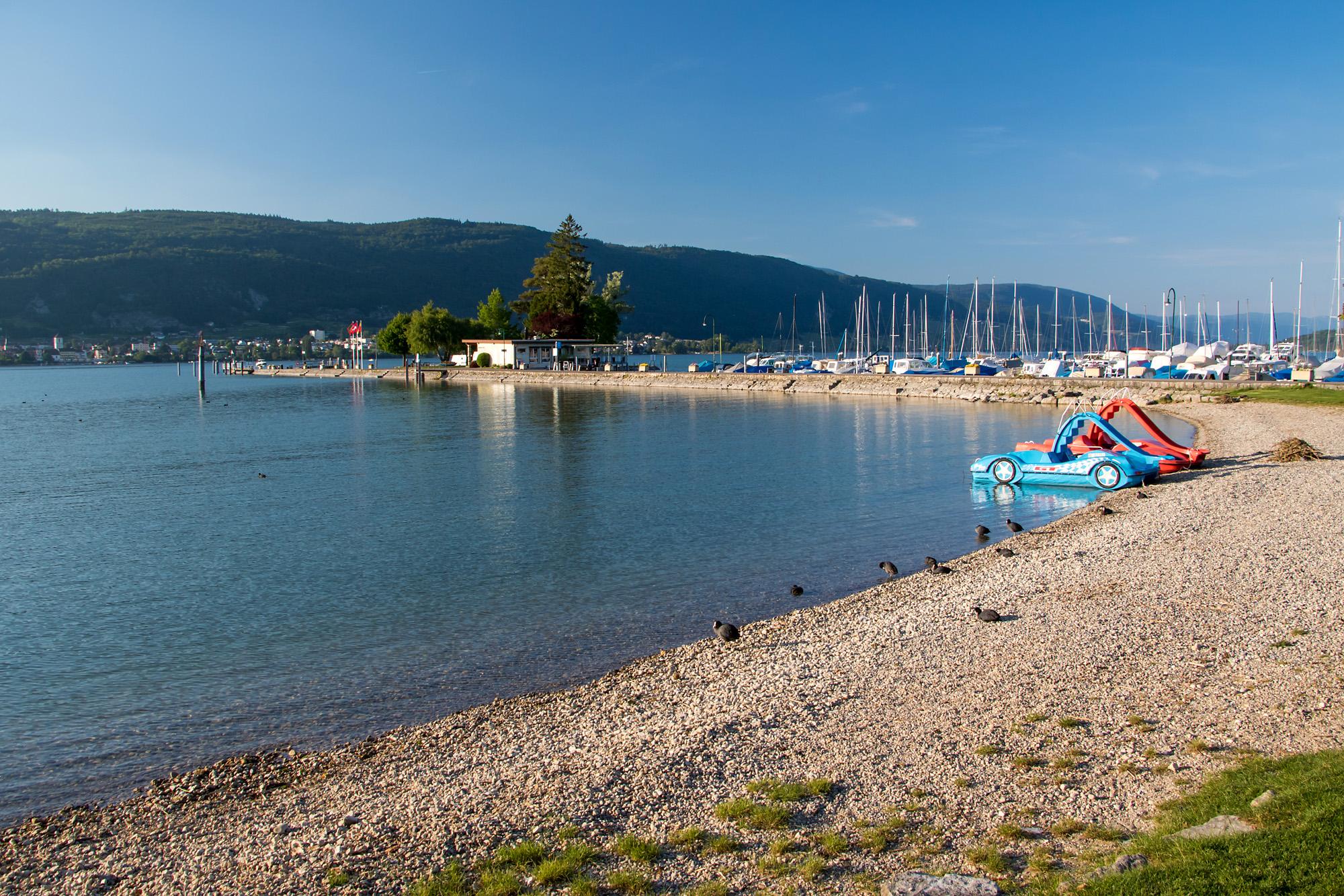 Der Bielersee bei Erlach, BE
