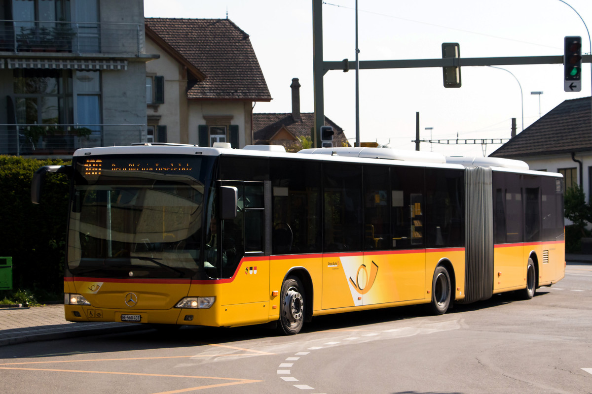 Heute ist auf der ehrwürdigen Linie 100 ein moderner Gelenkbus unterwegs
