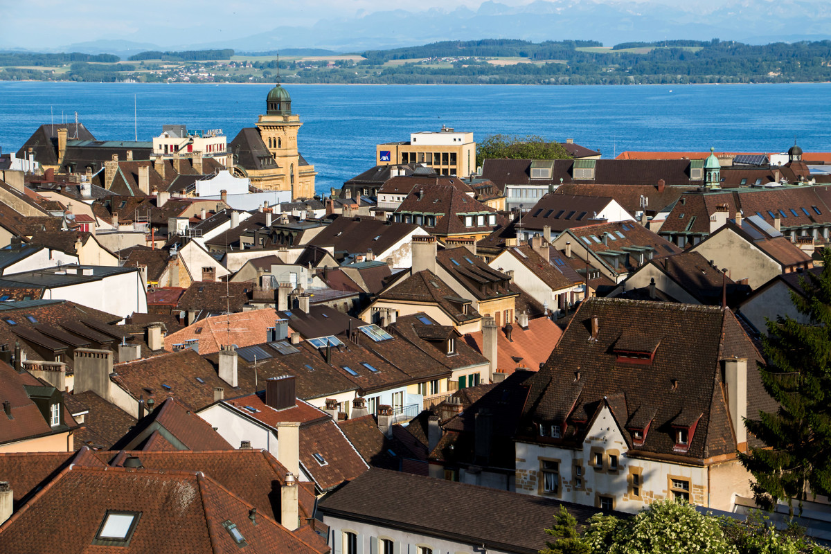 Blick über die Dächer Neuchâtels