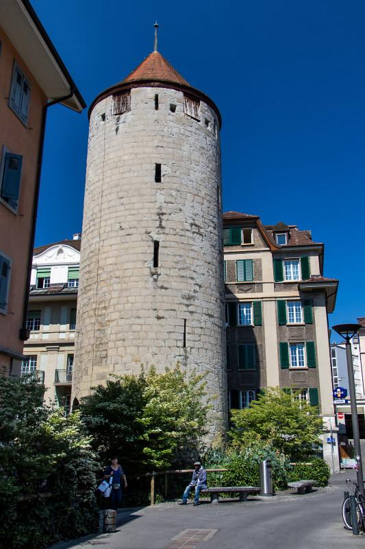 Der 21 Meter hohe Tour de l'Ale, das letzte Überbleibsel der mittelalterlichen Befestigungen
