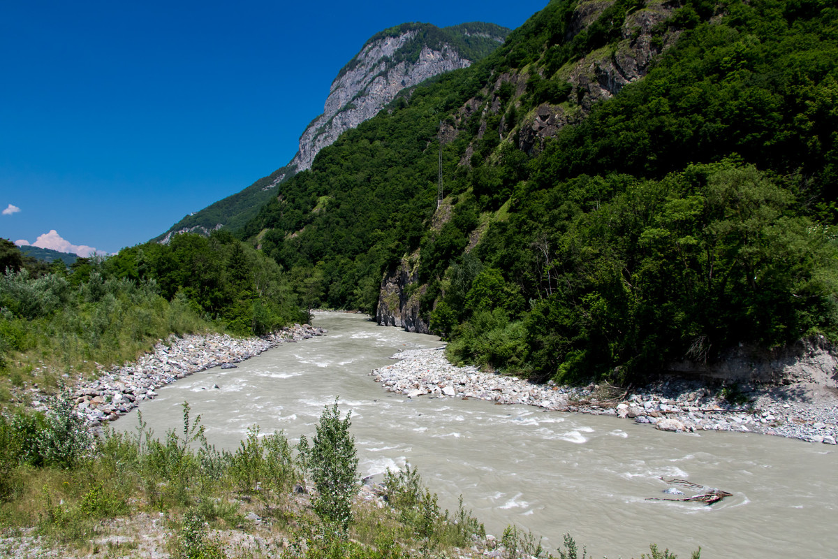 Rhone-Wanderung von Lavey nach Evionnaz