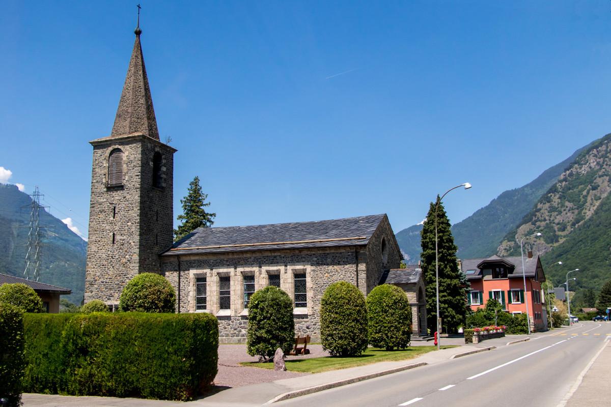 Die Kirche von Dorénaz
