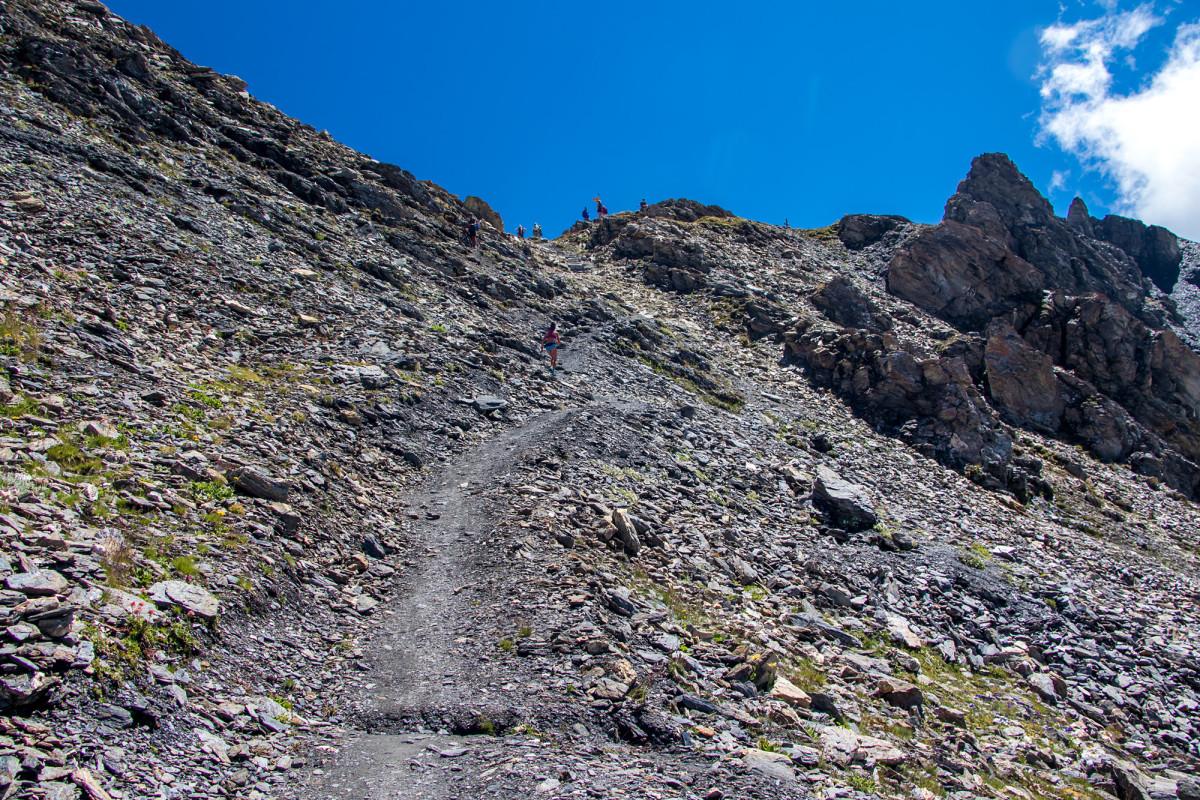 Fast geschafft, da oben ist der Col de Torrent!