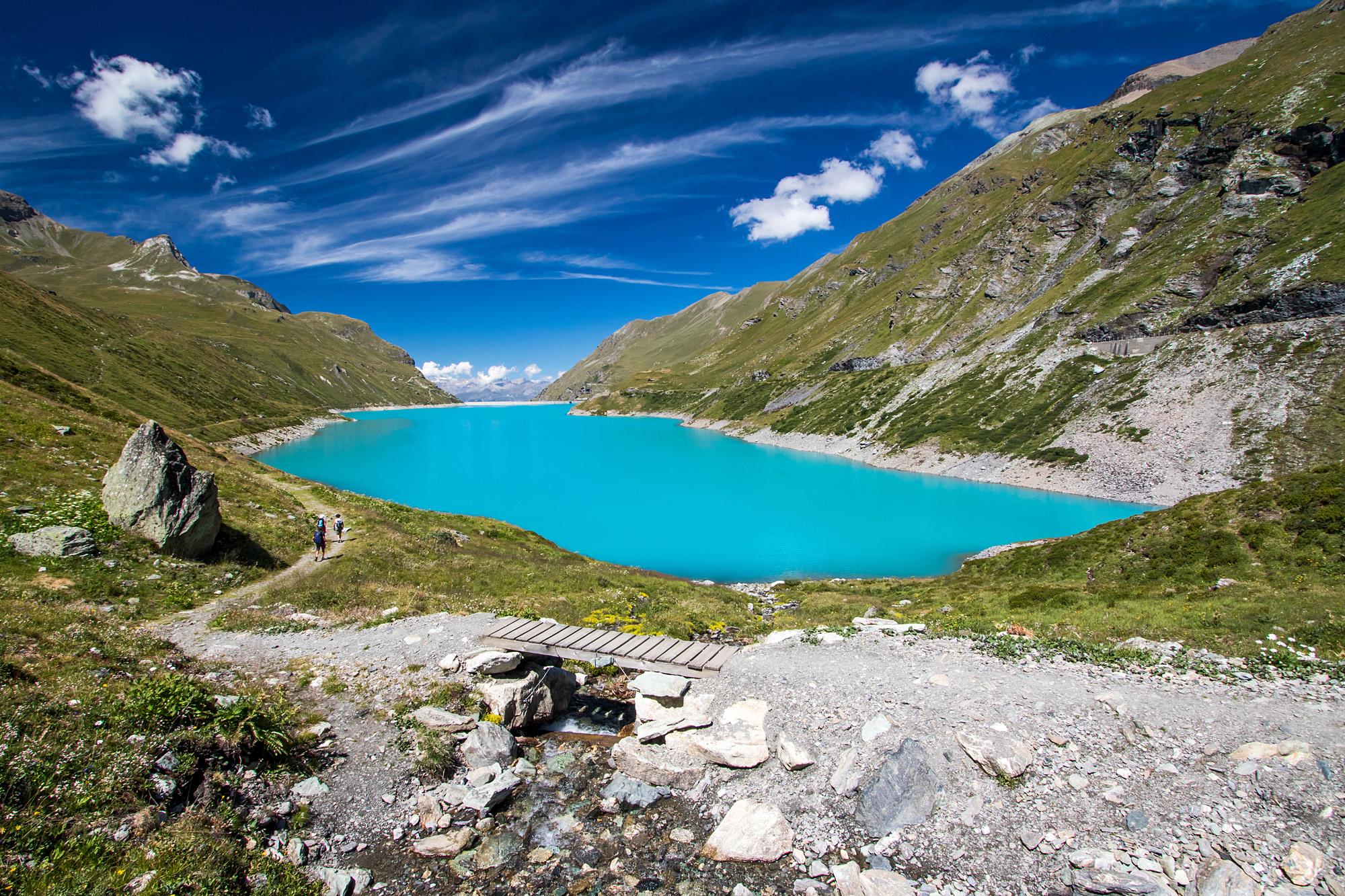 Der Lac de Moiry, Ziel einer Postauto-Strecke