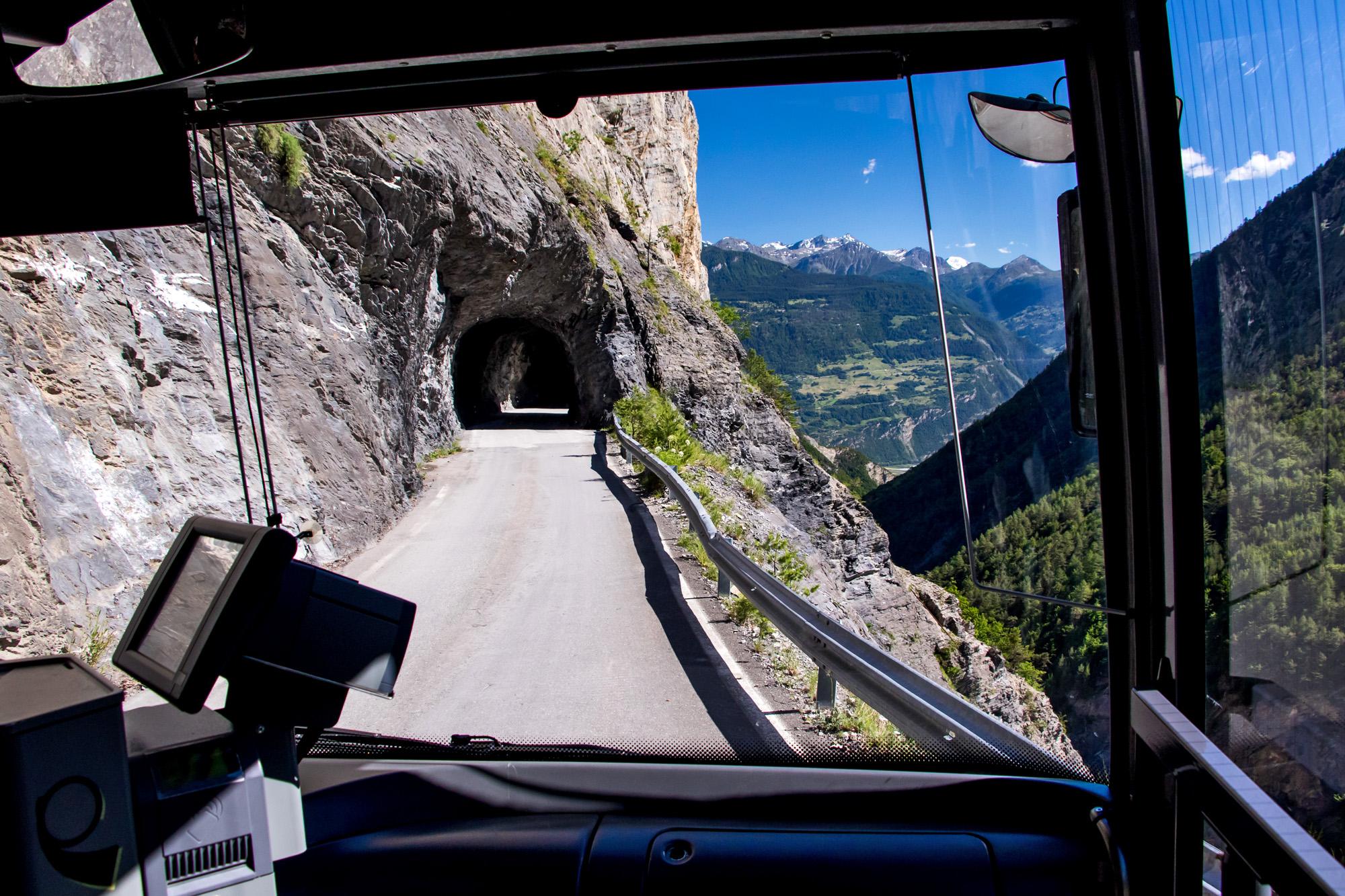 Aussichtsreiche Fahrt zurück nach Sion
