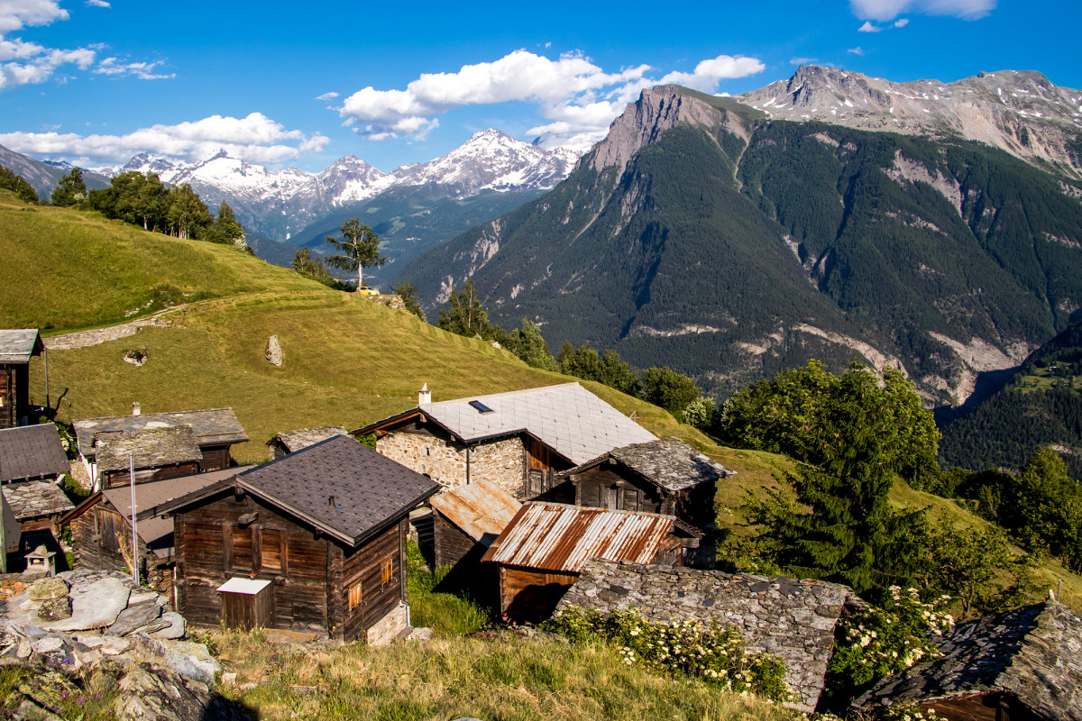 Alpsiedlung Bodma, oberhalb Visp