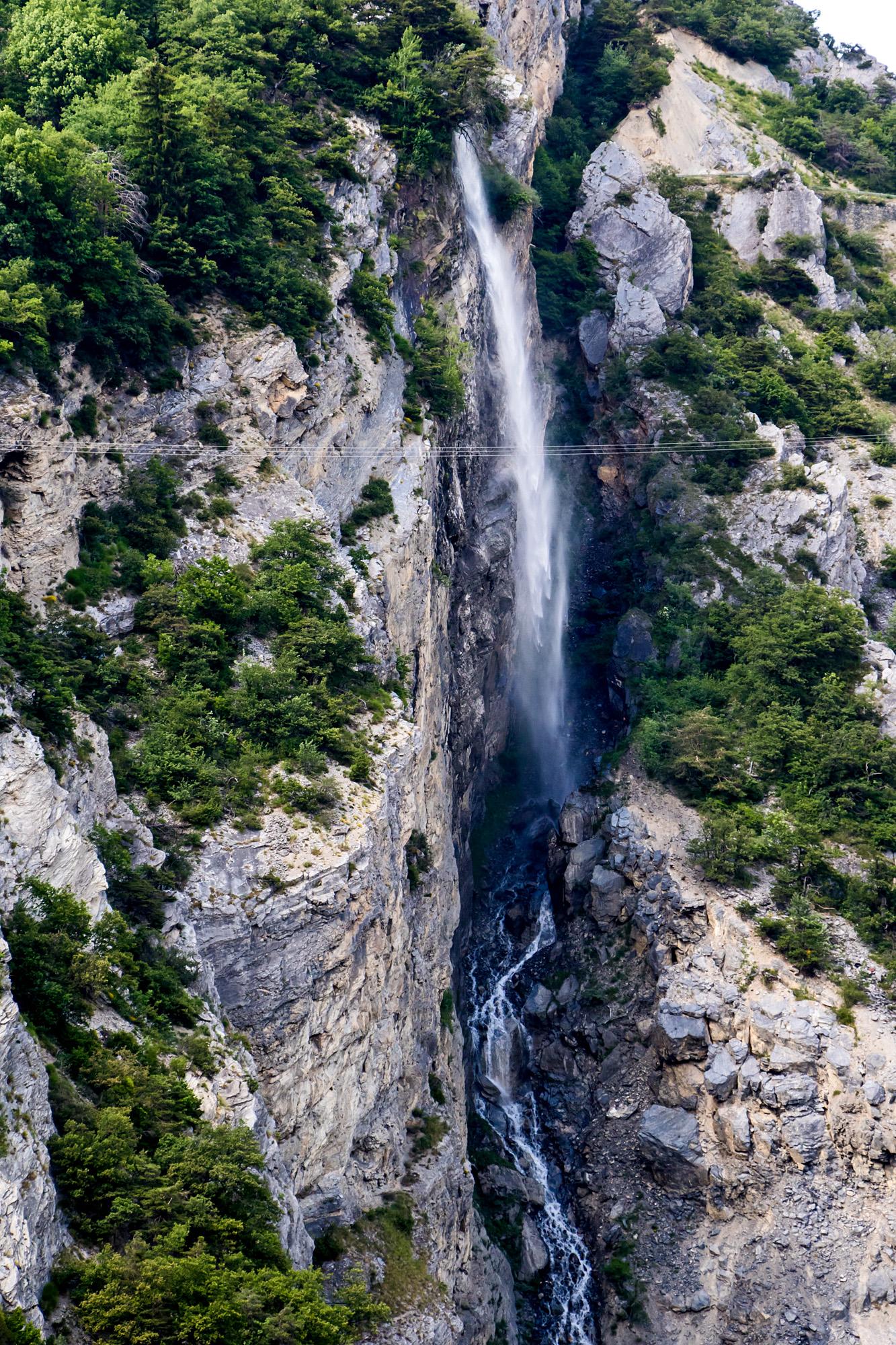 Der 35 Meter hohe Dala-Wasserfall