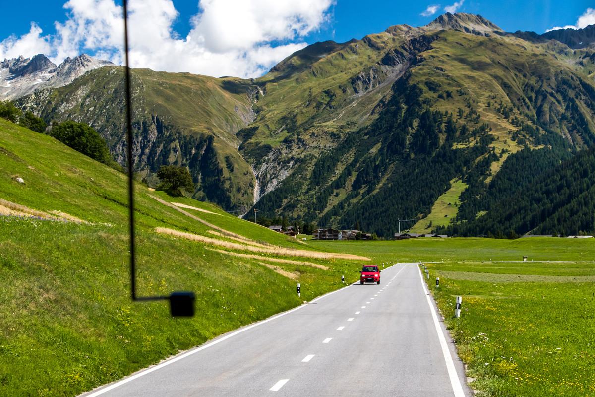 Endlich wieder im Postauto: Fahrt von Ulrichen nach Oberwald