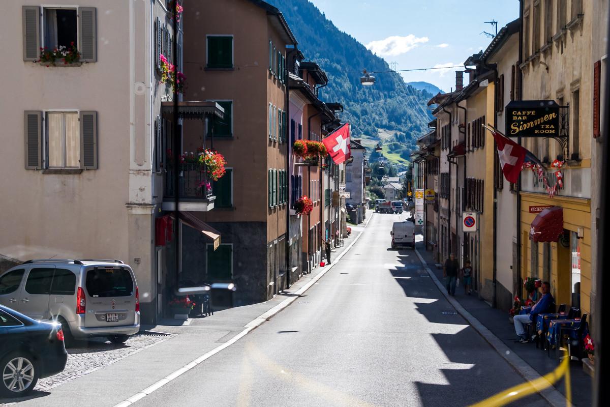 Via San Gottardo in Airolo - vom einstigen Leben ist nicht mehr viel übrig