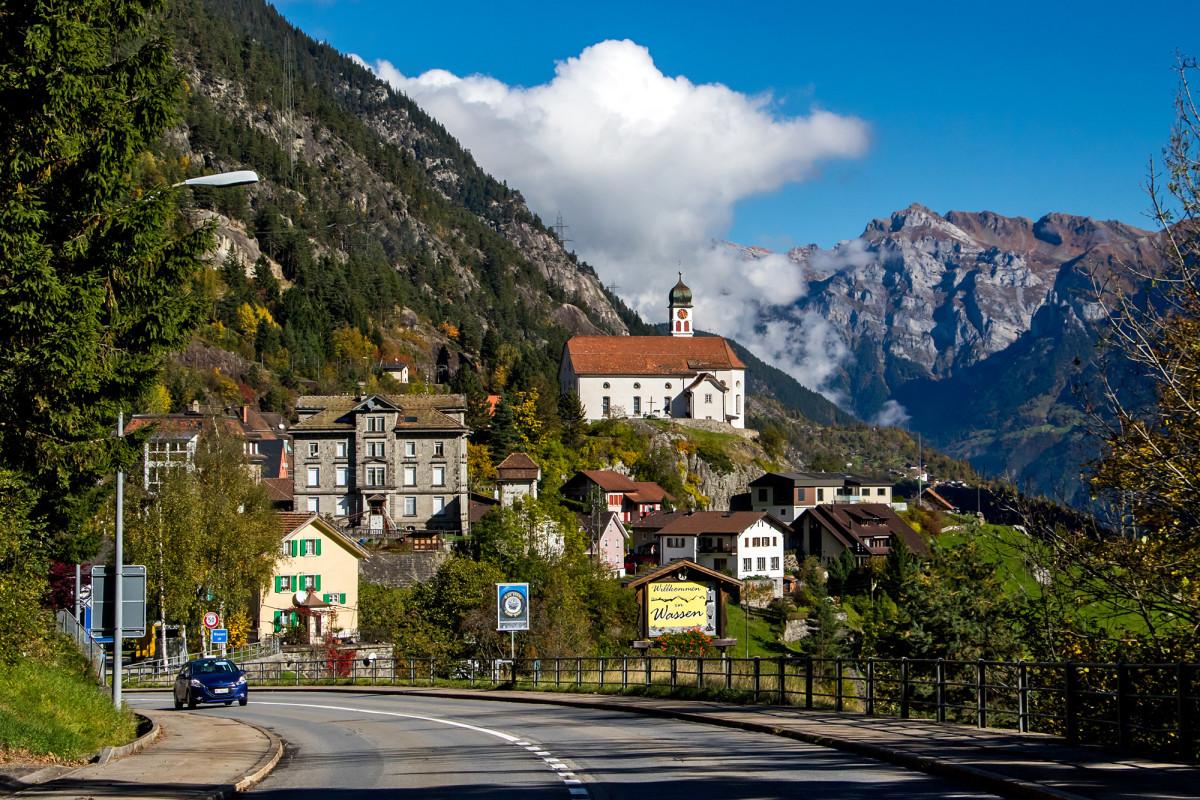 Wassen am Gotthard, für einmal nicht von der Eisenbahn aus gesehen