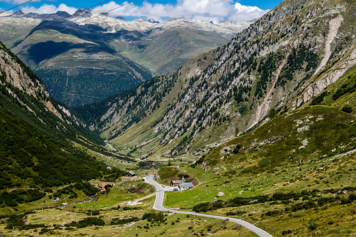 Blick hinunter in Richtung Rhonetal