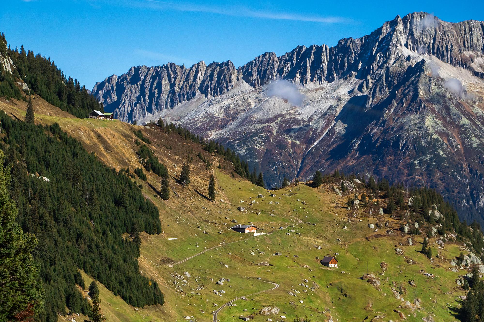 Einige der hiesigen Alpen