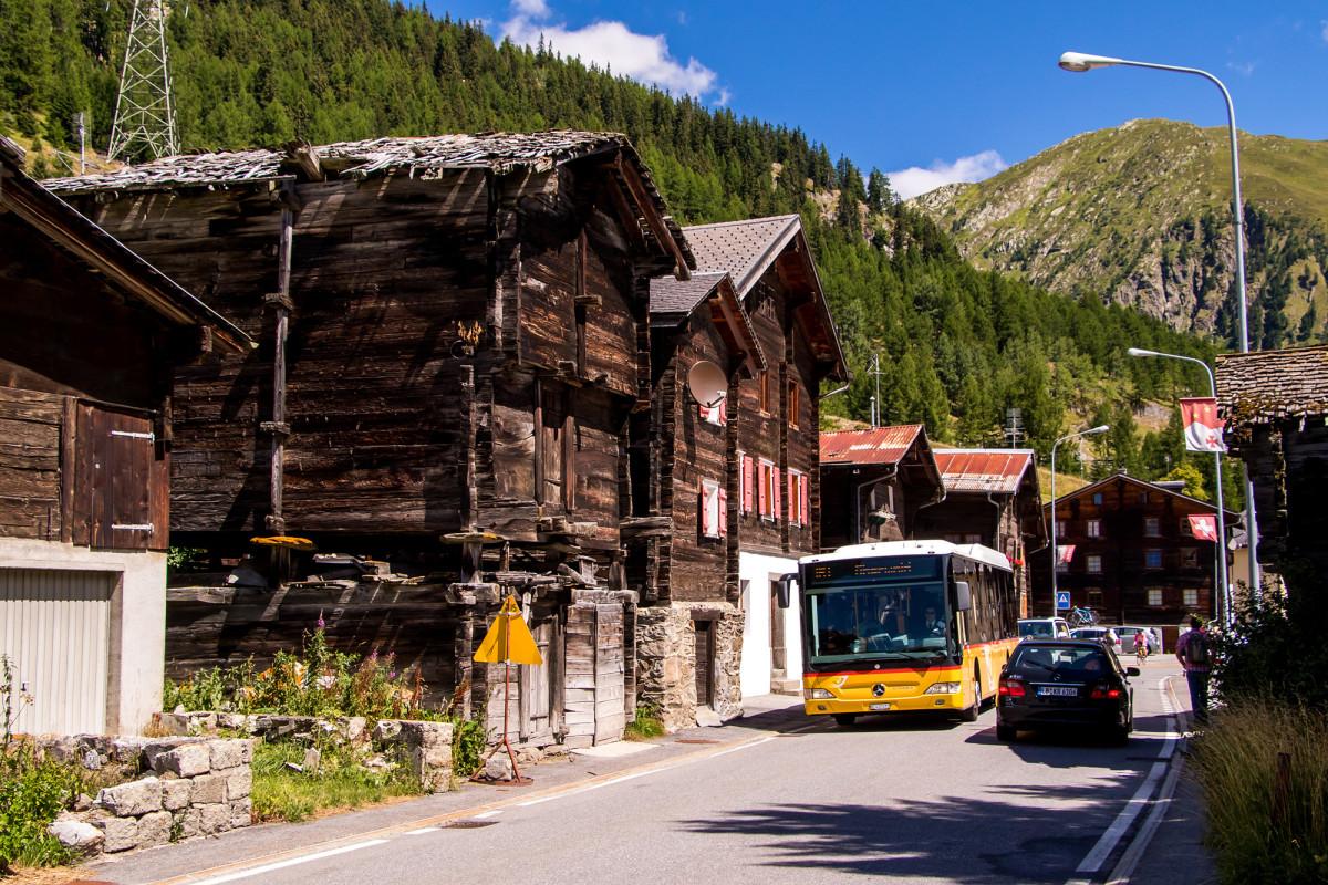 Mein Citaro-Niederflurbus erreicht Oberwald :-)
