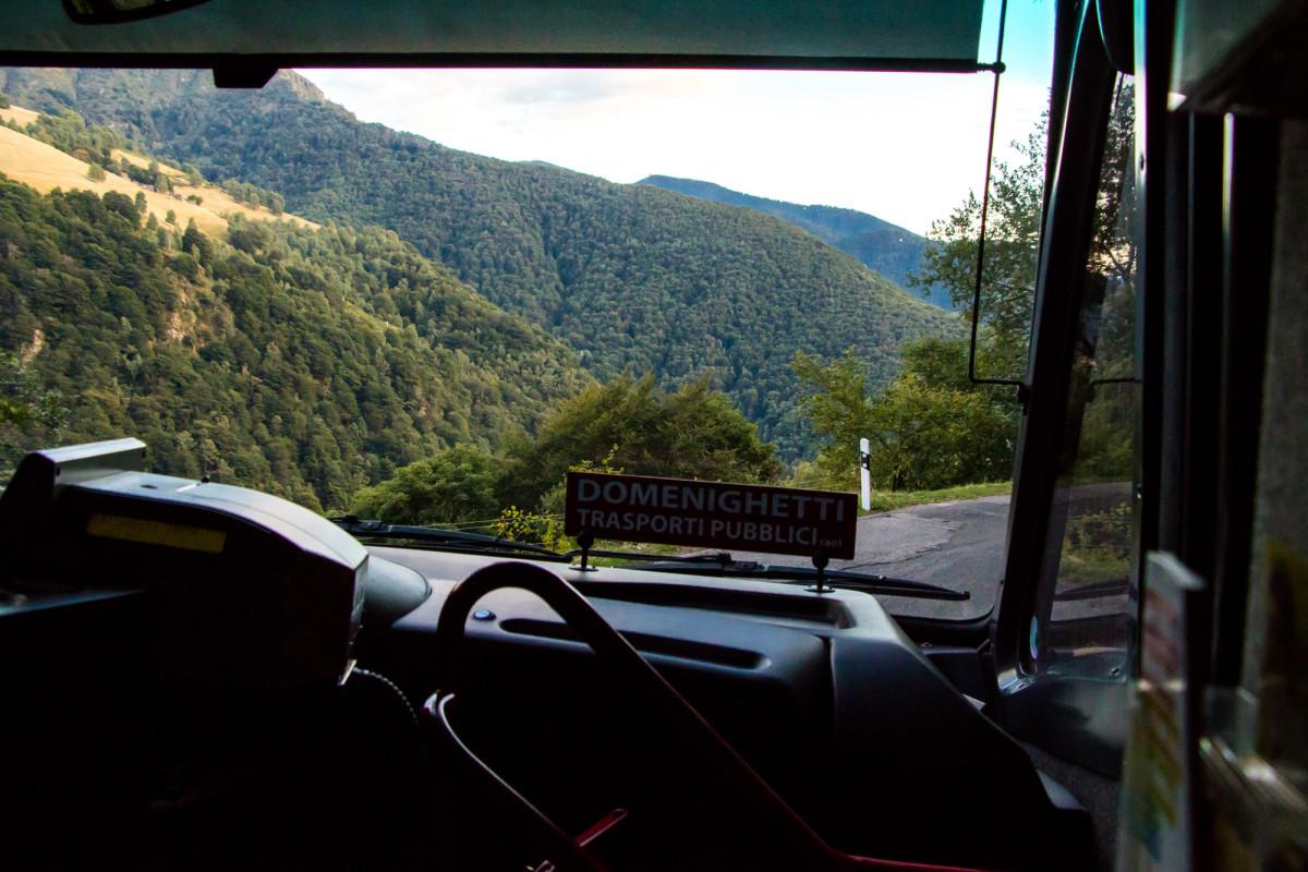 Ankunft auf der Alpe Neggia mit Blick Richtung Italien