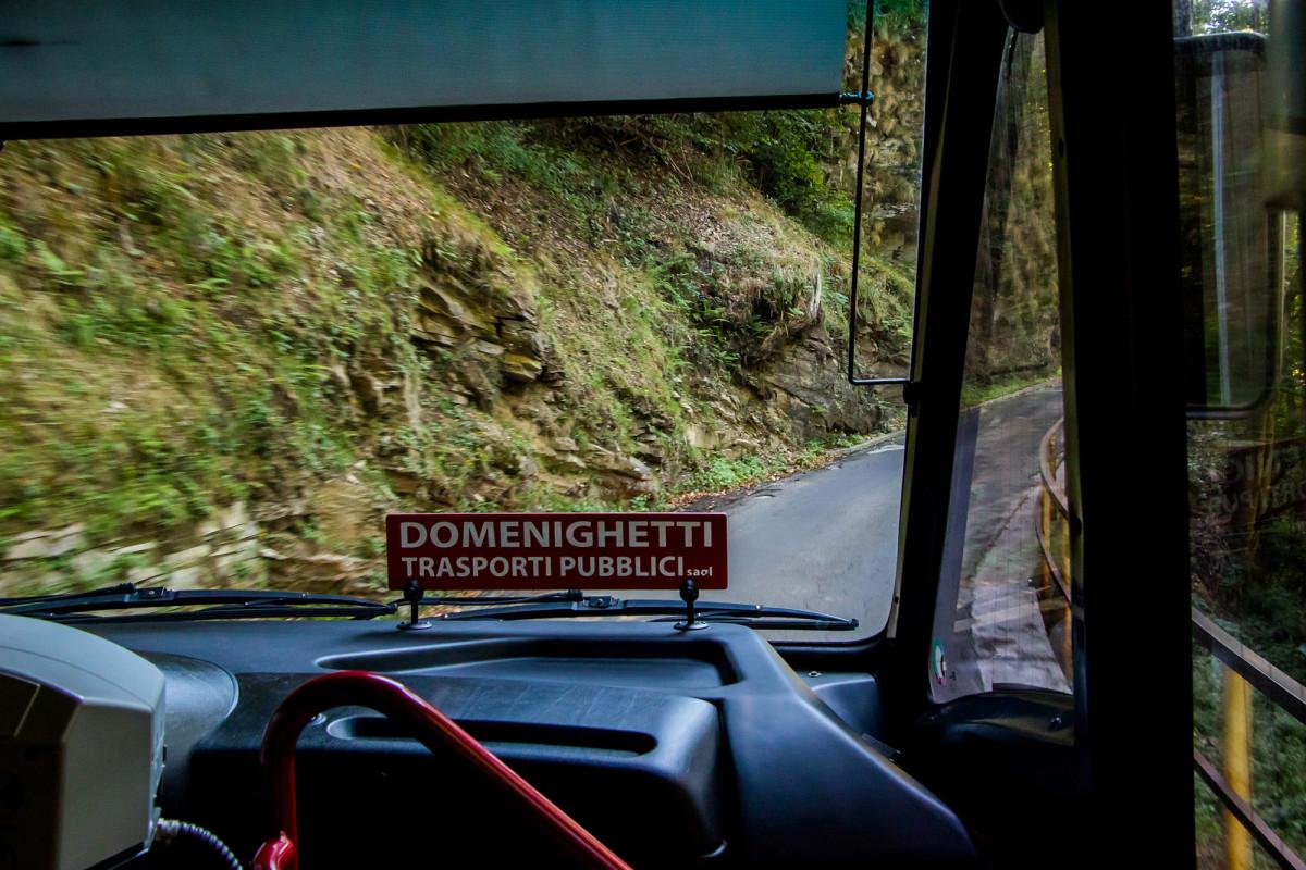 Bergfahrt hoch zur Alpe Neggia