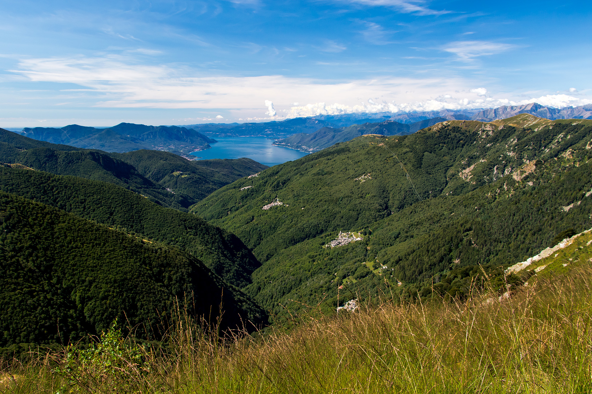 Auch in Richtung Italien und Indemini kann man sehen :-)