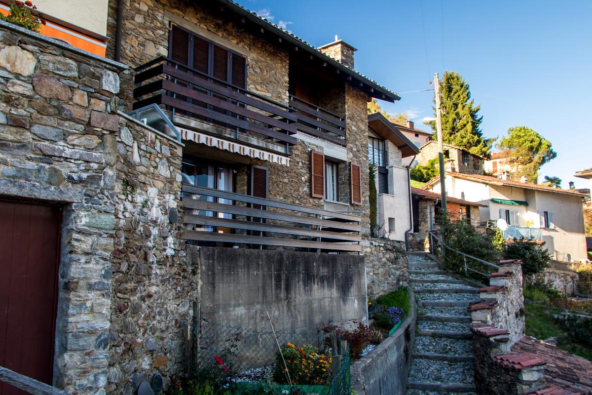 In den terrassierten Strassen von Cademario unterwegs...