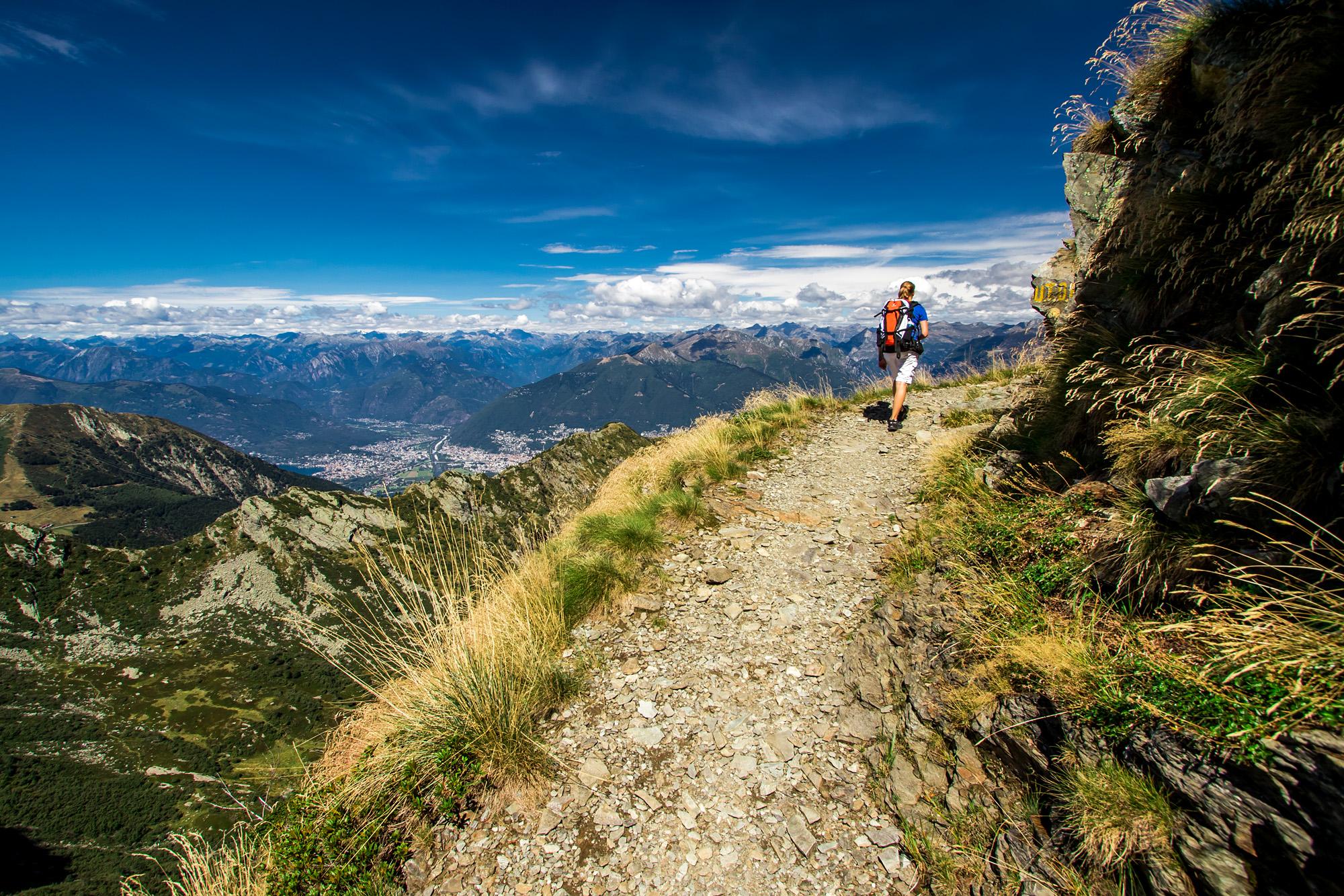 Wanderung über den Monte Tamaro - ausgehend natürlich vom Postauto-Netz!