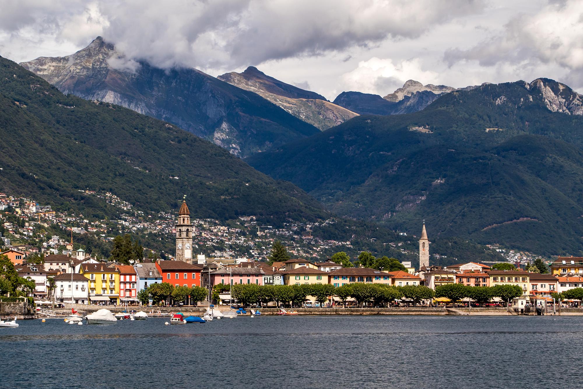Ascona, TI, in seiner ganzen Pracht